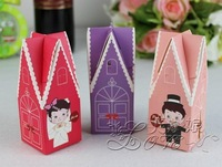 50pcs Man And Wife Church Wedding Favor Box Favour Wedding Box