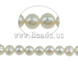 FREE SHIPPING Natural Cultured Freshwater White Round Pearl Craft Beads, 50pcs/lot, A grade, high quality,6-7mm,Jewelry findings(China (Mainland))