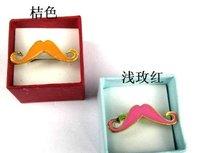 Free Shipping ! 200 PCS/LOT Lovely avanty beard ring beard modelling drop glaze ring ring 2 color into Ring #0075