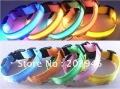 2012 hot sale led dog collars and leashes, many colors for option, free shipping charge