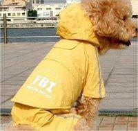 Free Shipping New Fashion Dog Raincoat ,Pet Hoodded Rain coat, Pet 4 feet Rain Coat Small Dog Raincoat pet products