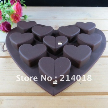 Free shipping 10pcs chocolate silicon mold  Cake Manufacture mold Food grade material (ch011)
