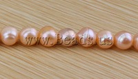 FREE SHIPPING Natural Cultured Freshwater Round pink Pearl Beads,High quality,8-9 mm, great for Jewelry Making Craft beads  DIY