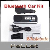 Sun Visor Cell Phone Handsfree Bluetooth Car Kit Handsfree Speaker  free shipping   100pcs