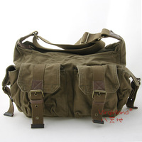 Free shipping,men fashion high quality water wash thick canvas messenger bag shoulder bag+six color
