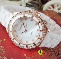 Gift aegean ceramic watchband gorgeous shell surface dream rhinestone ladies watch beautiful ceramic watch