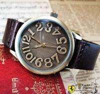 Fashion genuine leather belt vintage table scale women's watch fashion watch ladies watch mens watch