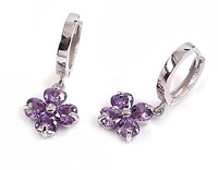 100% Guarantee Solid 925 Sterling Silver  Earrings With Zircon Fashion Earring Clip Silver Drop Earrings YH39557