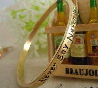 Free Shipping! 50pcs/lot  Letters moral wish bracelet &006