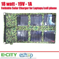 Free Shipping 18W Foldable Mono Solar Panel Charger Bag for Laptops&iphone 4/4s+Mobile Power Supply