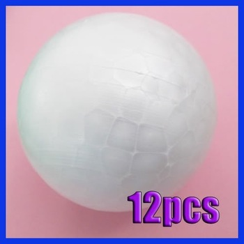 12x 70MM Modelling Polystyrene Styrofoam Foam Ball Sphere XMAS Decoration Craft[9901473 ]