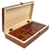 wood travel memories stamp gift set/mini stamp/Iron Box/multi-purpose Decorative DIY funny work ss-35