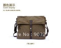 Free shipping!100% retro quality canvas cross section man bag computer bag briefcase Casual Messenger Bag