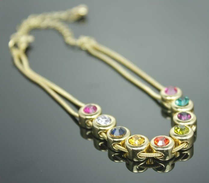 Factory Price,Hot Sell,Fashion Bracelet,18K Gold Plated,Free Shipping,(China (Mainland))