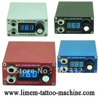 White Iron Casing LCD Digtal Tattoo Power Supply with designated national power cord tattoo Equitment freeshipping