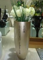 Fashion large floor vase modern fashion vase flower glazed steel decoration