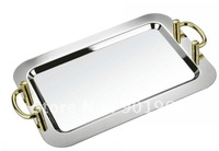 16inch stainless steel service tray-metal tray-dinnerware