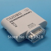 Free Shipping----5 in 1 camera connection kit for iPad/iPad 2/iPad 3 With USB/SD/TF Card Reader
