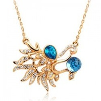 Accessories crystal necklace female short design crystal pendant 1121 accessories