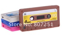 Retro Cassette Tape Silicone Case Cover for Apple iPhone4G 4S,high quality 200pcs/lot + DHL freeshipping