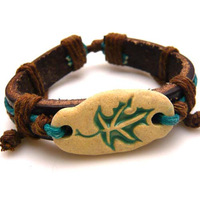 Vintage bracelet national accessories tibetan jewelry bracelet genuine leather bracelet