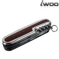 Iwoo-806 genuine leather multifunctional folding cutting tool male birthday gift keychain
