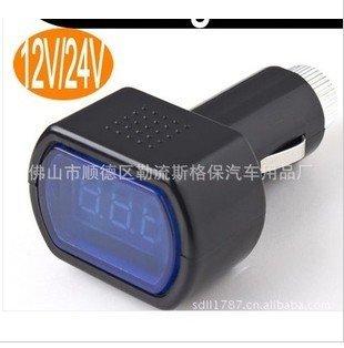 100Pcs/lot DC12V/24V Digital LED Auto Car Volt Voltage Voltmeter GAUGE Battery Indicator Meter Tester
