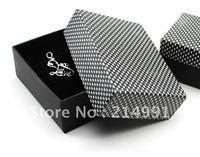 bw03# 8.5x6.5x3.2cm Black-and-white checkered paper box Pendants Bracelets jewelry case display