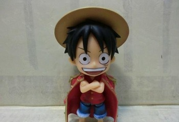 Free shipping, One Piece Monkey D Luffy Nendoroid series ,PVC Figure 10cm Heigh,For Christmas Gift
