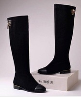 2012 free shipping new arrival women Large sizes women's Fashion sexy Genuine Leather knee boots 35--42