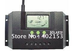 30A 12V/24V Auto Switch Solar Controller Regulator Charge Battery Safe Protection Wholesale,Free Shipping,#160031(China (Mainland))