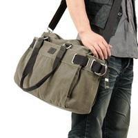 Free shipping,2012wholesale fashion men   shoulder  messenger bag casual canvas bag +black,army green khaki