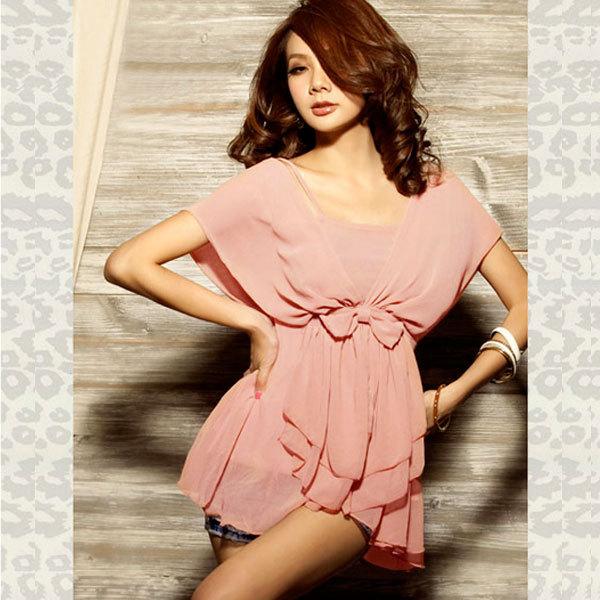 Autumn 2012 trend women's medium-long fashion chiffon shirt pullover women's cape batwing shirt(China (Mainland))