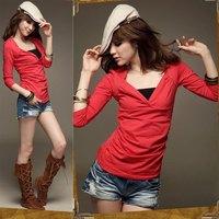 Autumn  new arrival trend autumn women's long-sleeve medium-long t-shirt top female t shirt