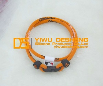 Health Sport Black/Orange Baltimore Orioles Baseball Titanium Necklace