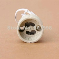 Shipping via Express,GU10 Socket Ceramic LED Halogen Bulb Lamp Light Holder Base 2A 250V with Wire lead