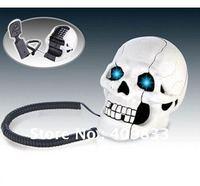 Free shipping, Novelty Skull design Flashing Novelty Home Phone Telephone
