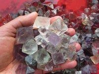 1000g Lot Of 150pcs Natural Fluorite Crystal Octahedrons Rock Specimen China R176