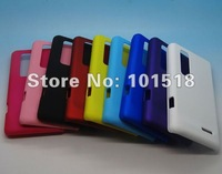 10pcs/lot Free shipping Rubber Hard Cover Case For LG Optimus 3D MAX P725