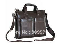 Men handle,shoulder bag.laptop leather bag.Business real cow leather cool design fashion handbag for men.free shipping .