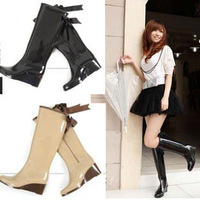 2012 Hot Sale Rubber Knee-high Rain boots women's fashion rainboots Bowtie decorated Wedages waterproof shoes Riding Boots