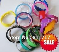 100pcs/lot  Free Shipping Power Energy Sport Bracelets + Retail Boxes , 33 Colors 5 Sizes For Choose