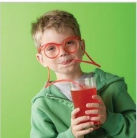 free shipping! plastic DIY drinking straw eyeglasses,silly straw glasses,amazing straw glasses#H108