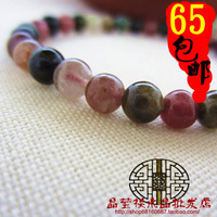 Natural crystal female fortune tourmaline 5m bead bracelet jylb0167