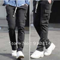 New winter men's straight Slim brushed thickened Wei pants, men's sports pants,  freeshipping by China Post Air Mail, M-XXL,Y025