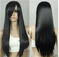 black Straight Women With Bang Women's/Girl Full Wig brazilian Fashion Lady's Woman's Fibre queen virgin hair Accessories wigs