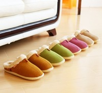 Man's and Woman's winter slippers, home's slippers, bowtie decorate, anti-skidding slippers, hot sell, free shipping
