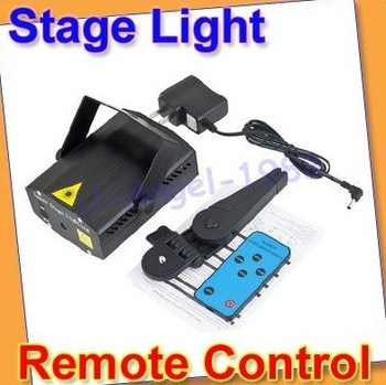 Free Shipping Remote Controlled Mini LED Laser Stage Lighting Projector DJ Disco Party Club US plug