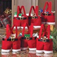 GAGA ! Free shipping pants red wedding Christmas chocolate bags  ,17cm*16cm  x'mas product , SDW11