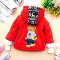 2012 winter male child BOY&#39;s stripe cotton-padded jacket outerwear fleece liner back bear down warm elegant coat overcoat